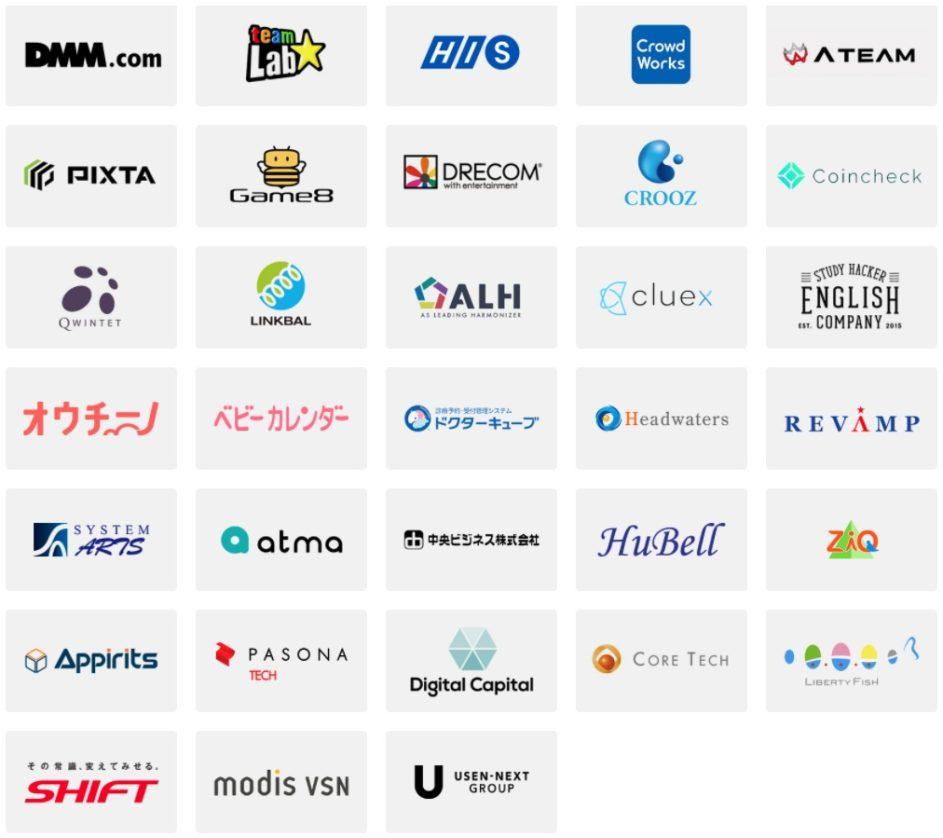300以上の企業紹介